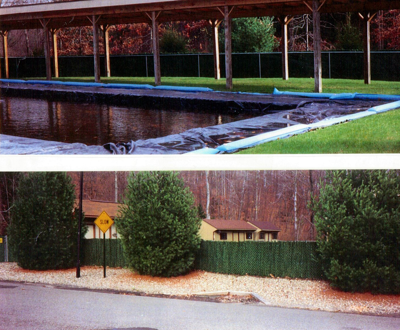 Chain Link Fence With Artificial Hedge Privacy Inserts Ketcham Fenceketcham Fence