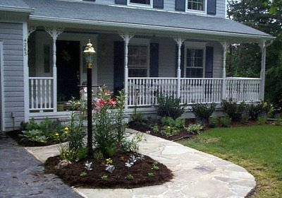 Custom railings installationketcham fence - Homes front porch designs pictures ...