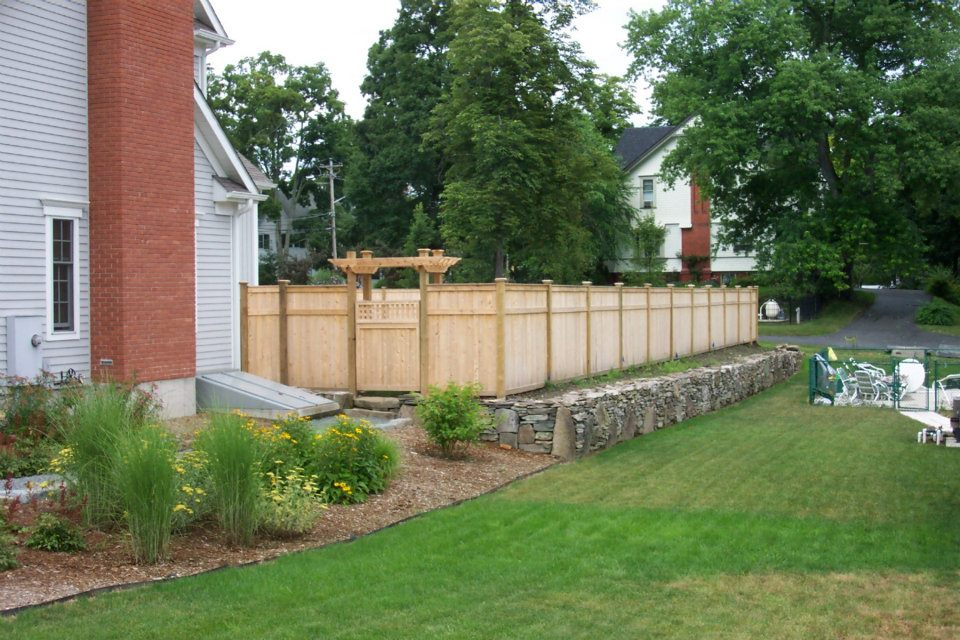 Custom cedar privacy fence with pergola and gate - Custom Cedar Privacy Fence With Pergola And Gate - Ketcham
