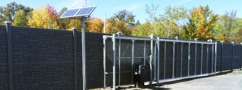 Simtek Stone Fence Installed Ketcham Fenceketcham Fence