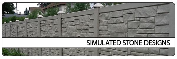 Simulated Stone Fence Designs